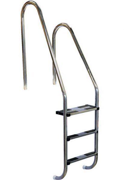Лестница ассиметричная Asymmetric 304, 4 ступени, нерж. сталь AISI 304, двойная верхняя ступень