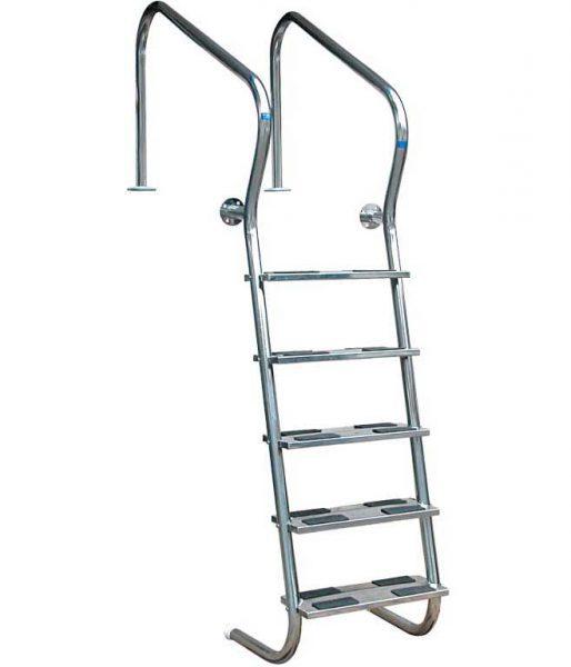 Лестница Easy Access 304, 4 ступени, нерж. сталь AISI 304, двойные ступени