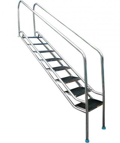 Лестница Inclined 304, 8 ступеней, нерж. сталь AISI 304, 970 мм