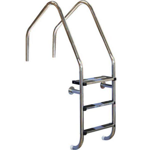 Лестница Overflow 304, 3 ступени, нерж. сталь AISI 304, двойная верхняя ступень