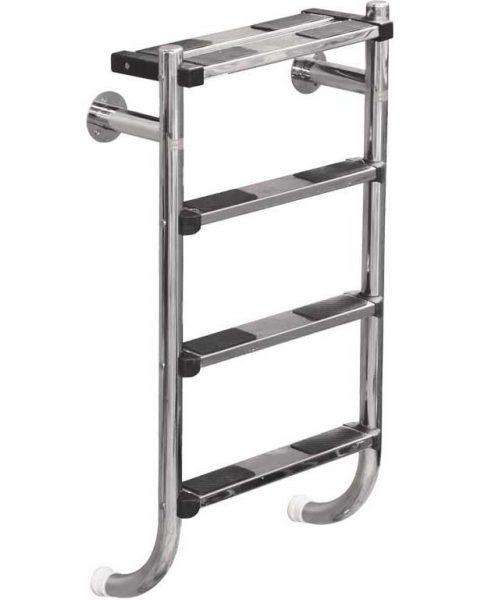 Лестница Split 304, 4 ступени, нерж. сталь AISI 304, двойная верхняя ступень