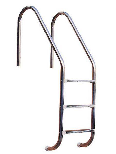 Лестница Standart 304, 3 ступени, нерж. сталь AISI 304