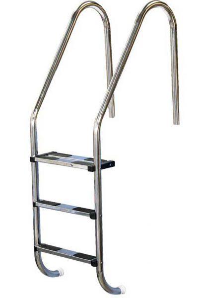 Лестница Standart 304, 4 ступени, нерж. сталь AISI 304, двойная верхняя ступень
