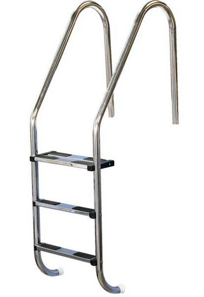 Лестница Standart 316, 4 ступени, нерж. сталь AISI 316, двойная верхняя ступень