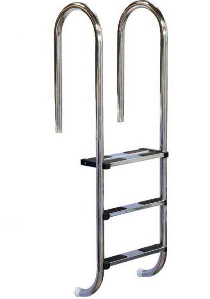 Лестница Standart U 304, 4 ступени, нерж. сталь AISI 304, двойная верхняя ступень
