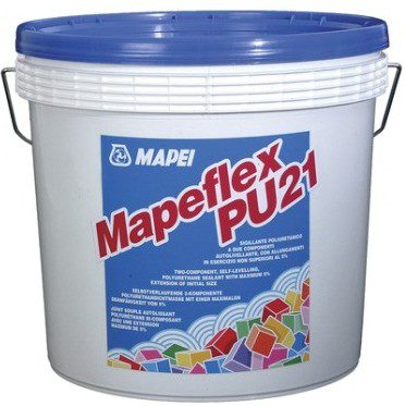 MAPEFLEX PU21, бежевый 2-х комп. саморасплывающийся герметик д/бетона, керамики, 10 кг