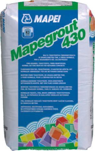 MAPEGROUT 430, безусад. фиброшпатлевка рос. пр-ва д/ремонта бетона , 25 кг