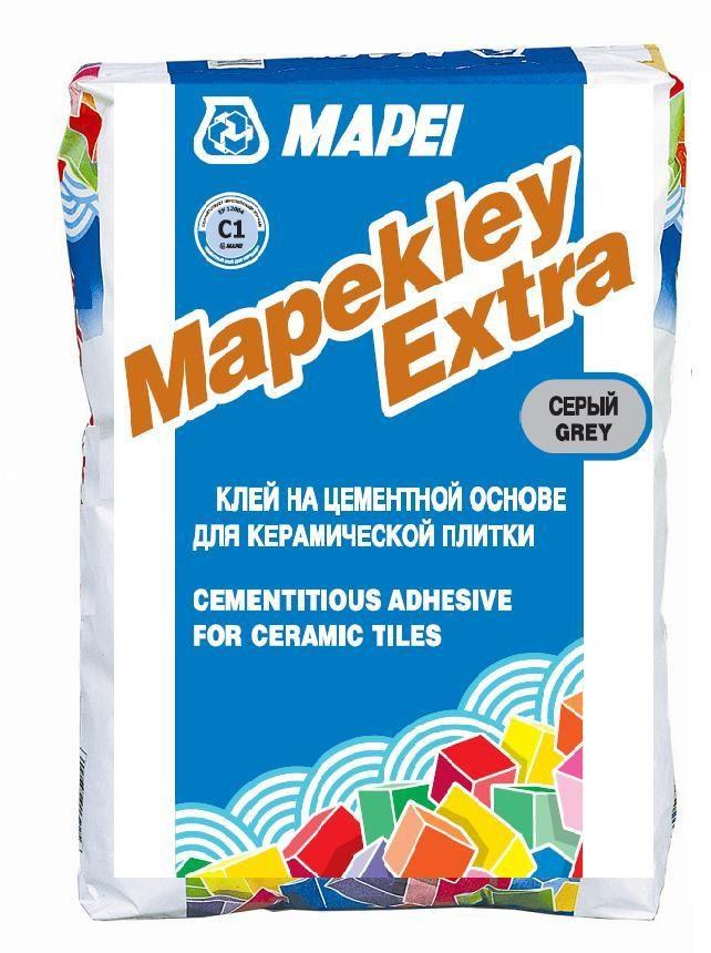 MAPEKLEY Extra, серый цементный клей д/плитки рос. пр-ва, 25 кг