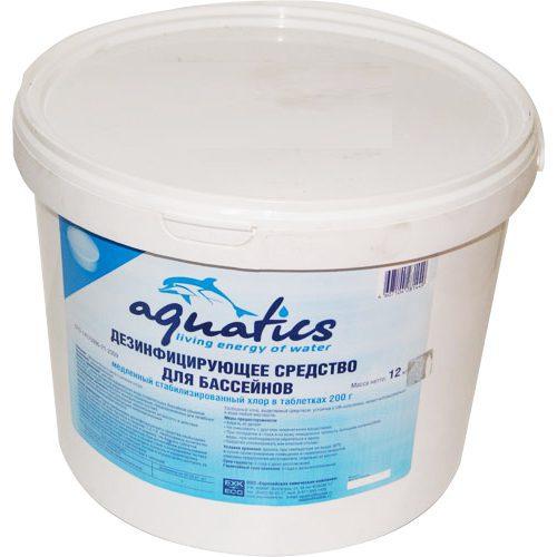 Медленный стабилизированный хлор в таблетках (200г), 1 кг