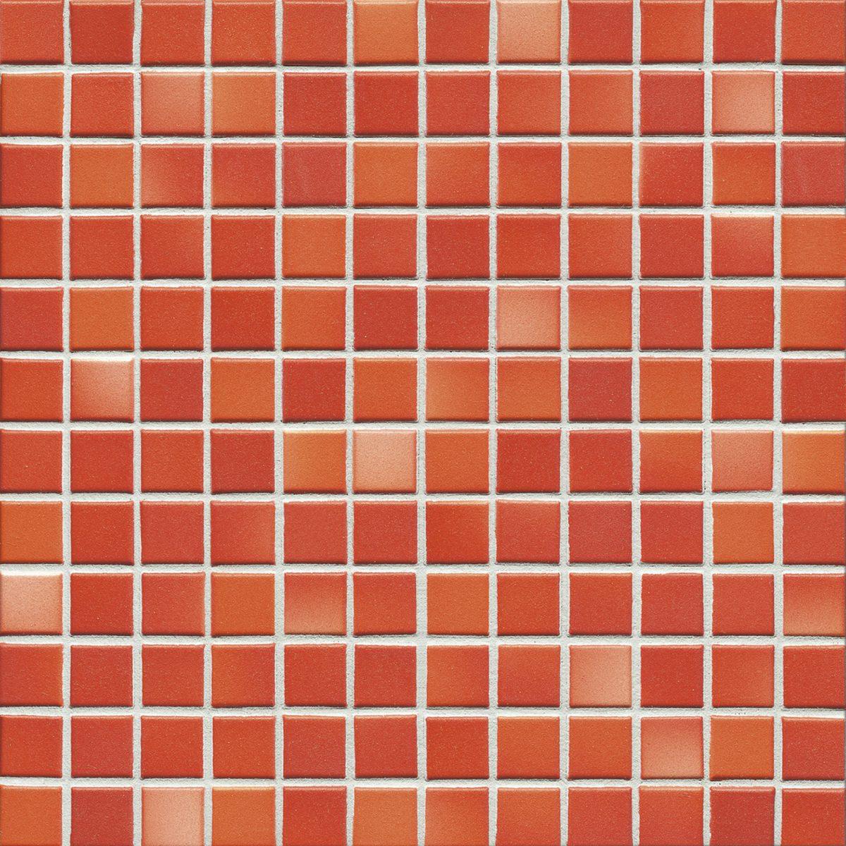 Мозаика серия Fresh 2,4 X 2,4 см Coral Red Mix Secura (противоскользящая R10/B)