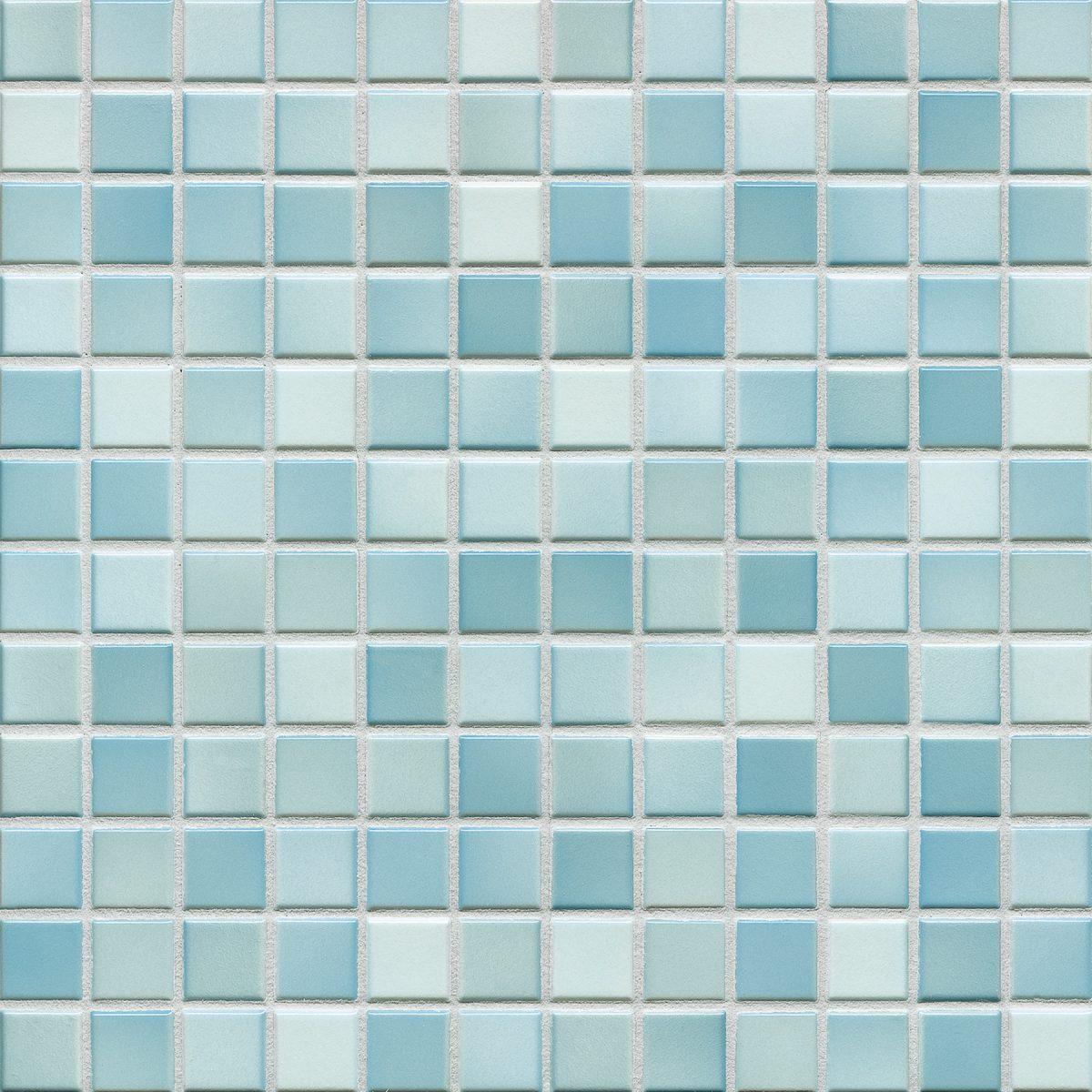 Мозаика серия Fresh 2,4 X 2,4 см Light Blue Mix Glossy (глазурованная)