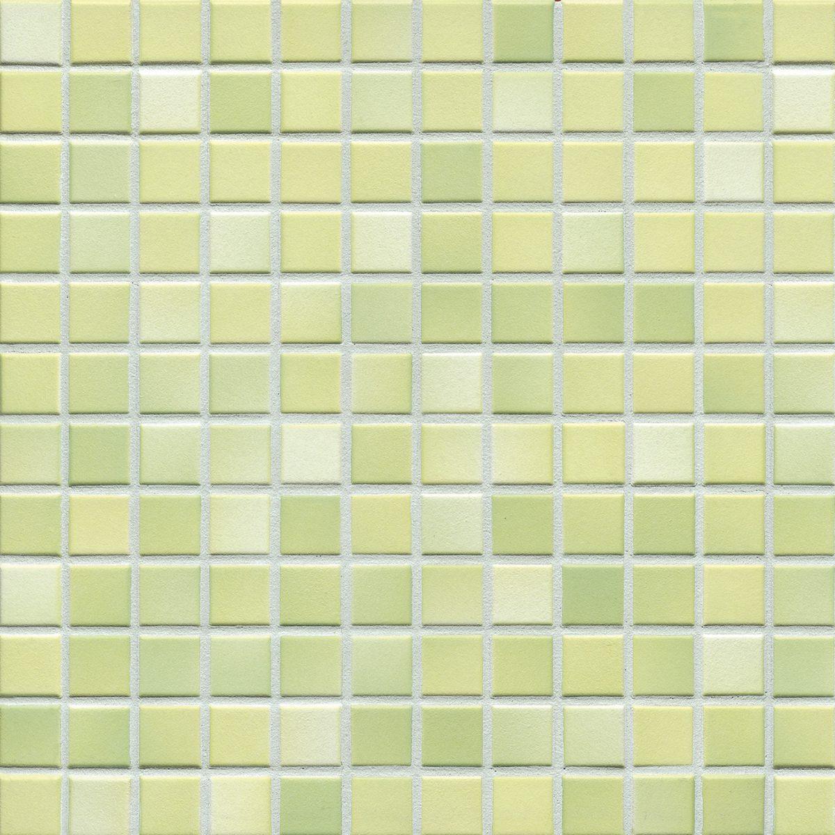 Мозаика серия Fresh 2,4 X 2,4 см Lime Green Mix Secura (противоскользящая R10/B)