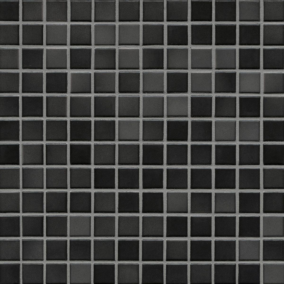 Мозаика серия Fresh 2,4 X 2,4 см Midnight Black Mix Glossy (глазурованная)