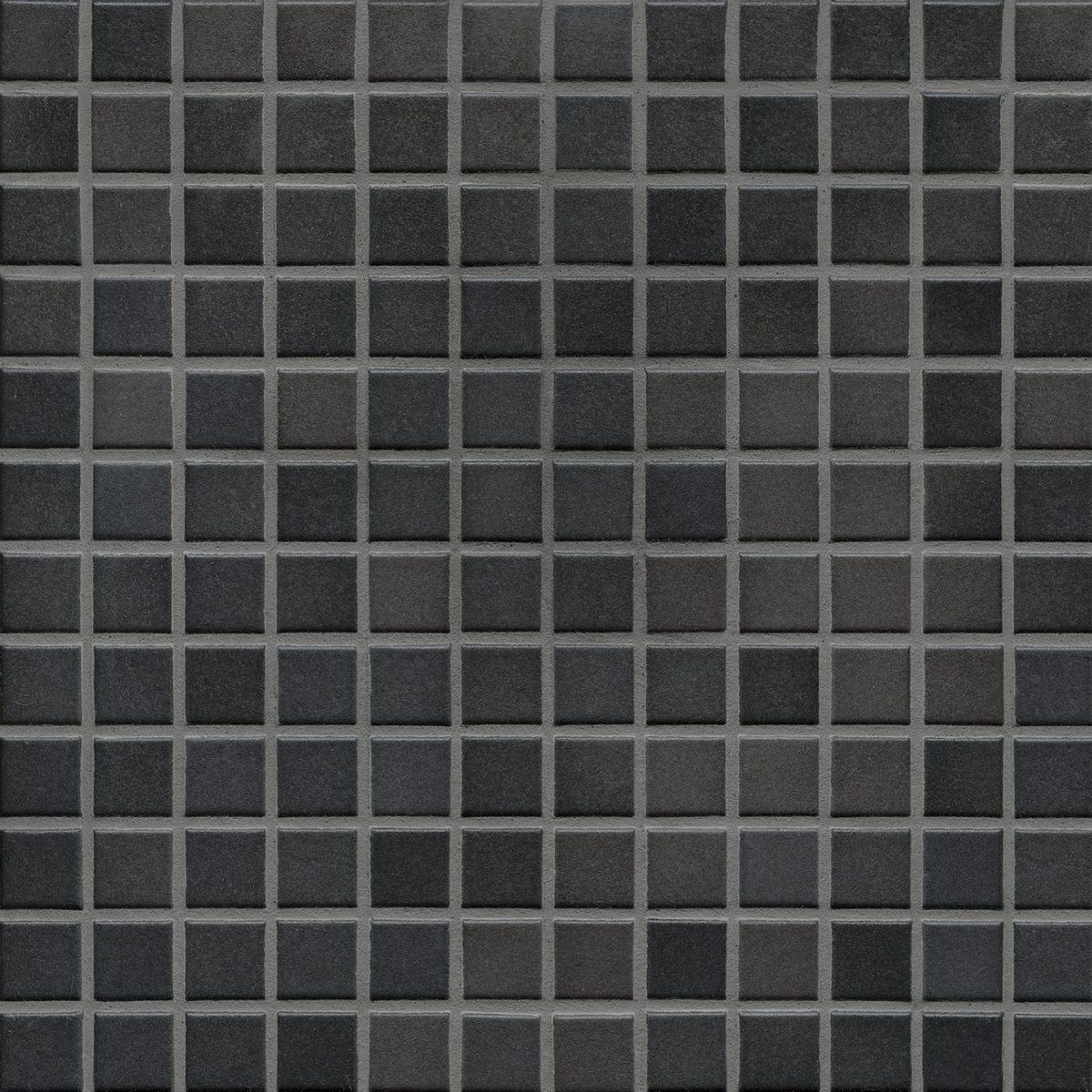 Мозаика серия Fresh 2,4 X 2,4 см Midnight Black Mix Secura (противоскользящая R10/B)