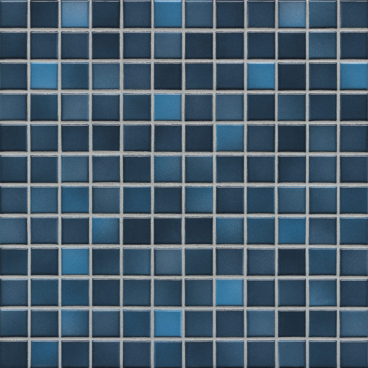 Мозаика серия Fresh 2,4 X 2,4 см Midnight Blue Mix Glossy (глазурованная)