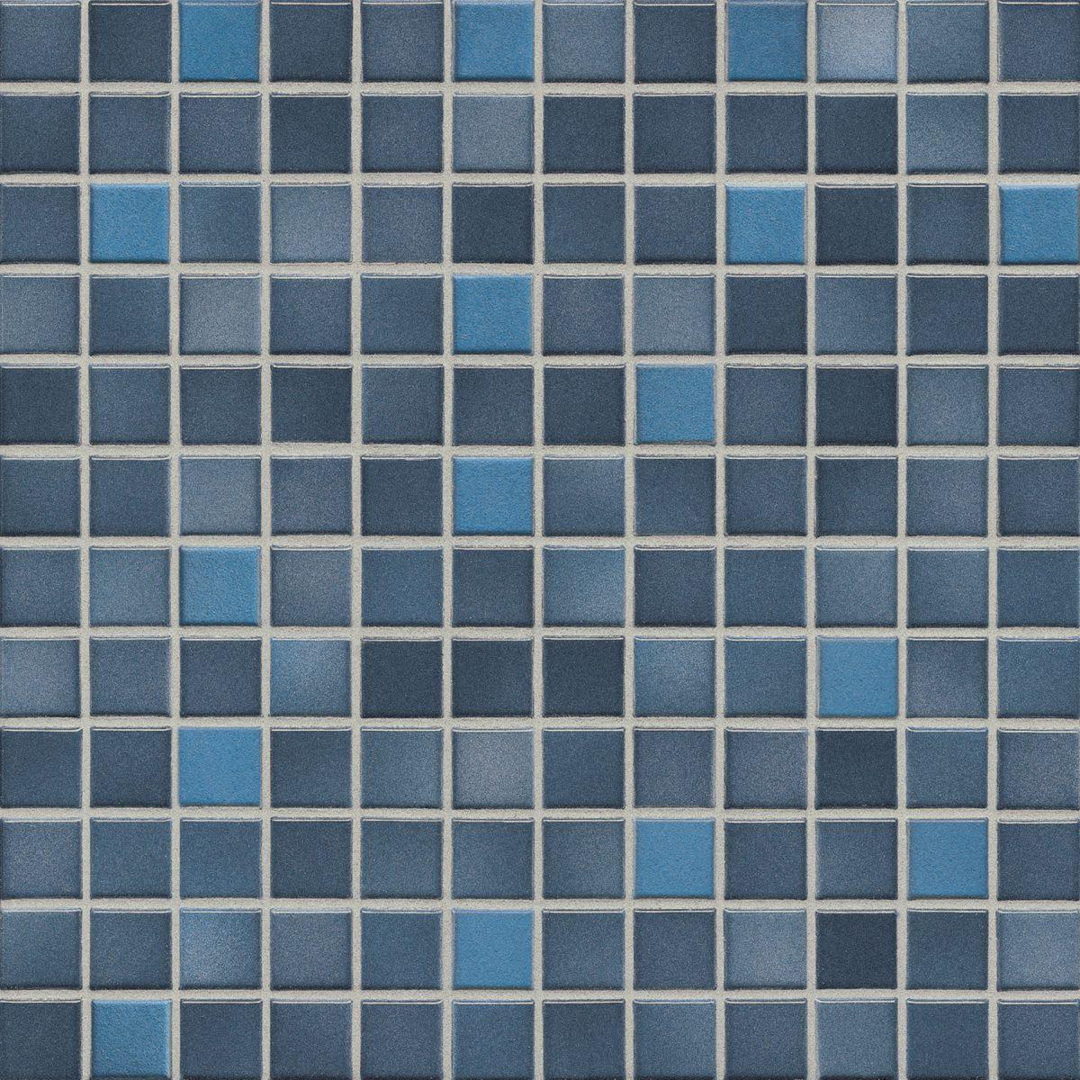 Мозаика серия Fresh 2,4 X 2,4 см Midnight Blue Mix Secura (противоскользящая R10/B)