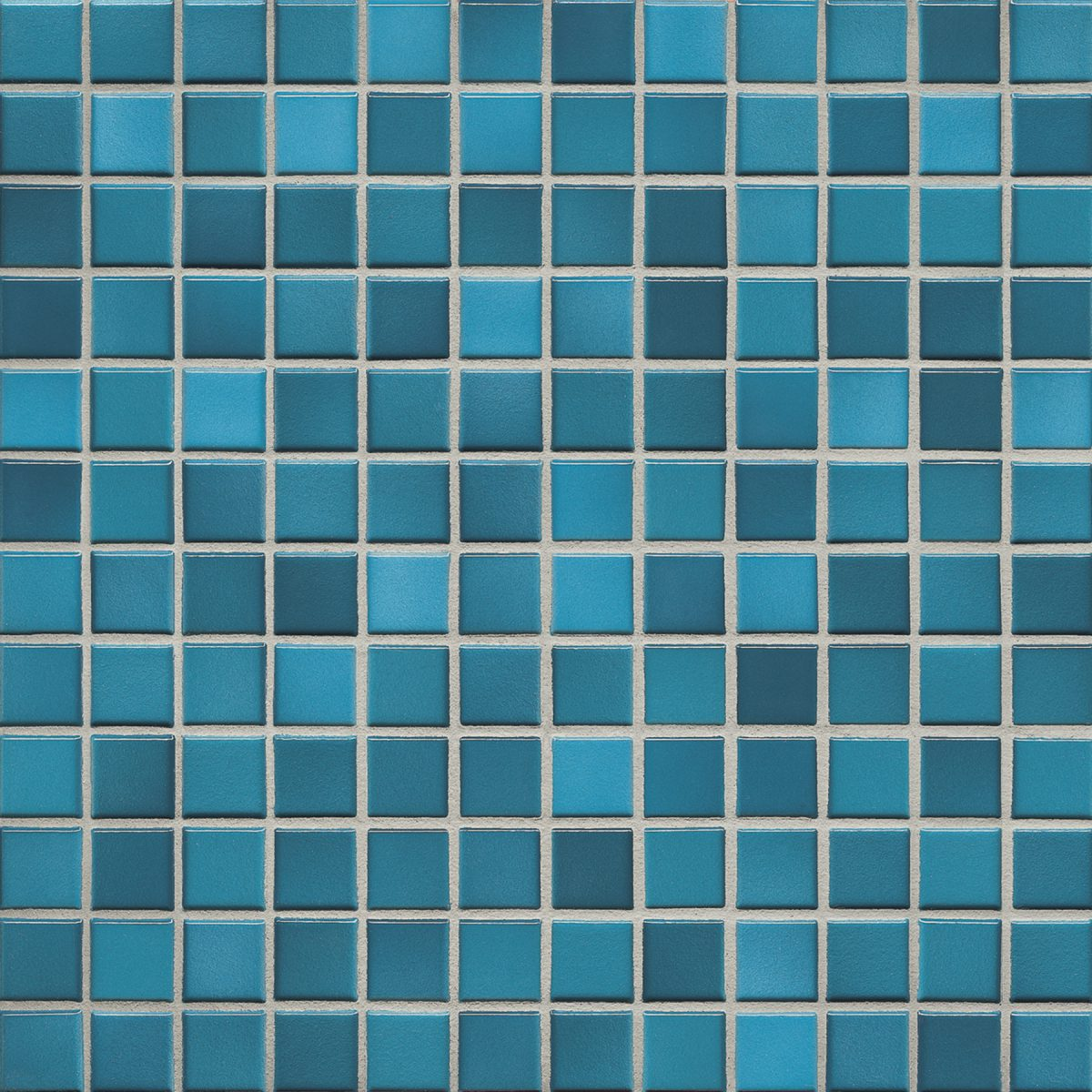 Мозаика серия Fresh 2,4 X 2,4 см Pacific Blue Mix Glossy (глазурованная)