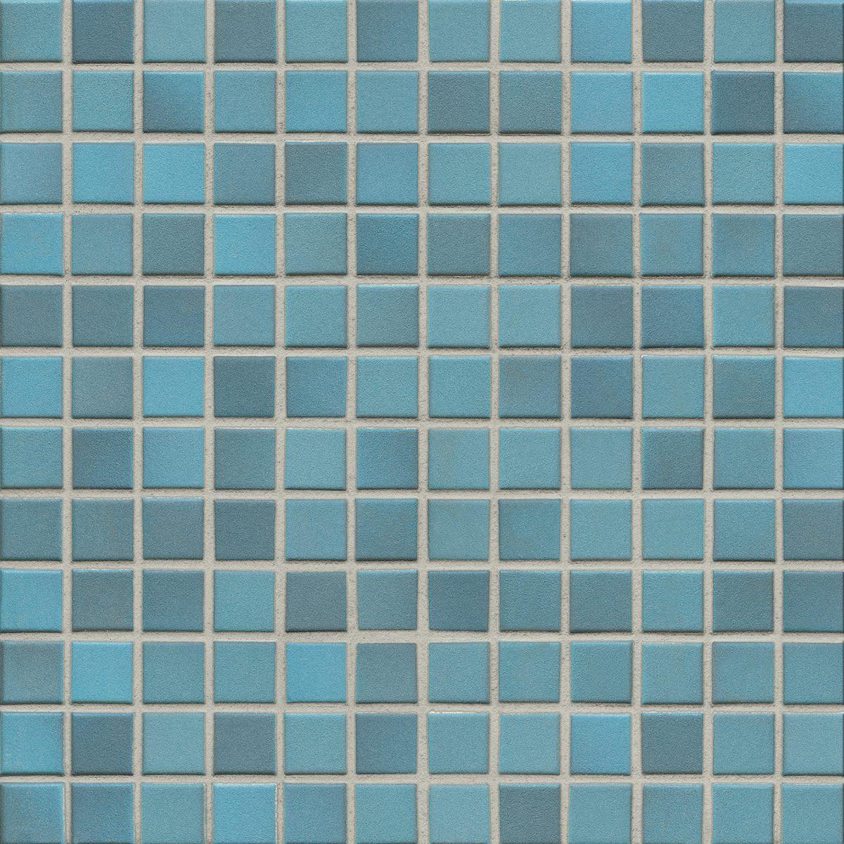 Мозаика серия Fresh 2,4 X 2,4 см Pacific Blue Mix Secura (противоскользящая R10/B)