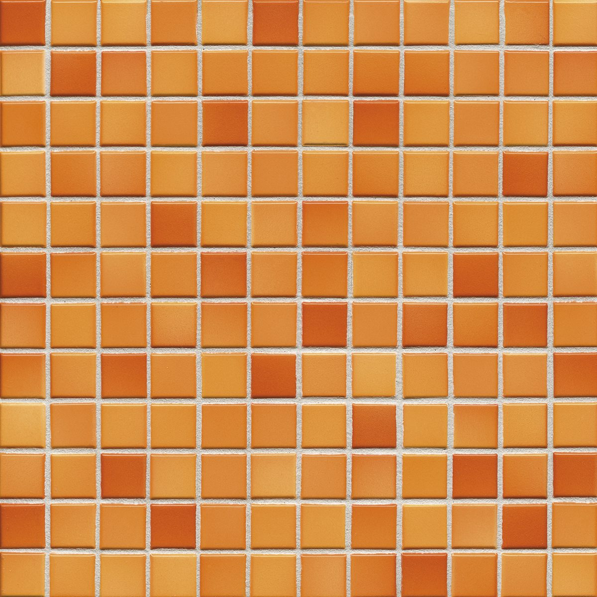 Мозаика серия Fresh 2,4 X 2,4 см Sunset Orange Mix Glossy (глазурованная)