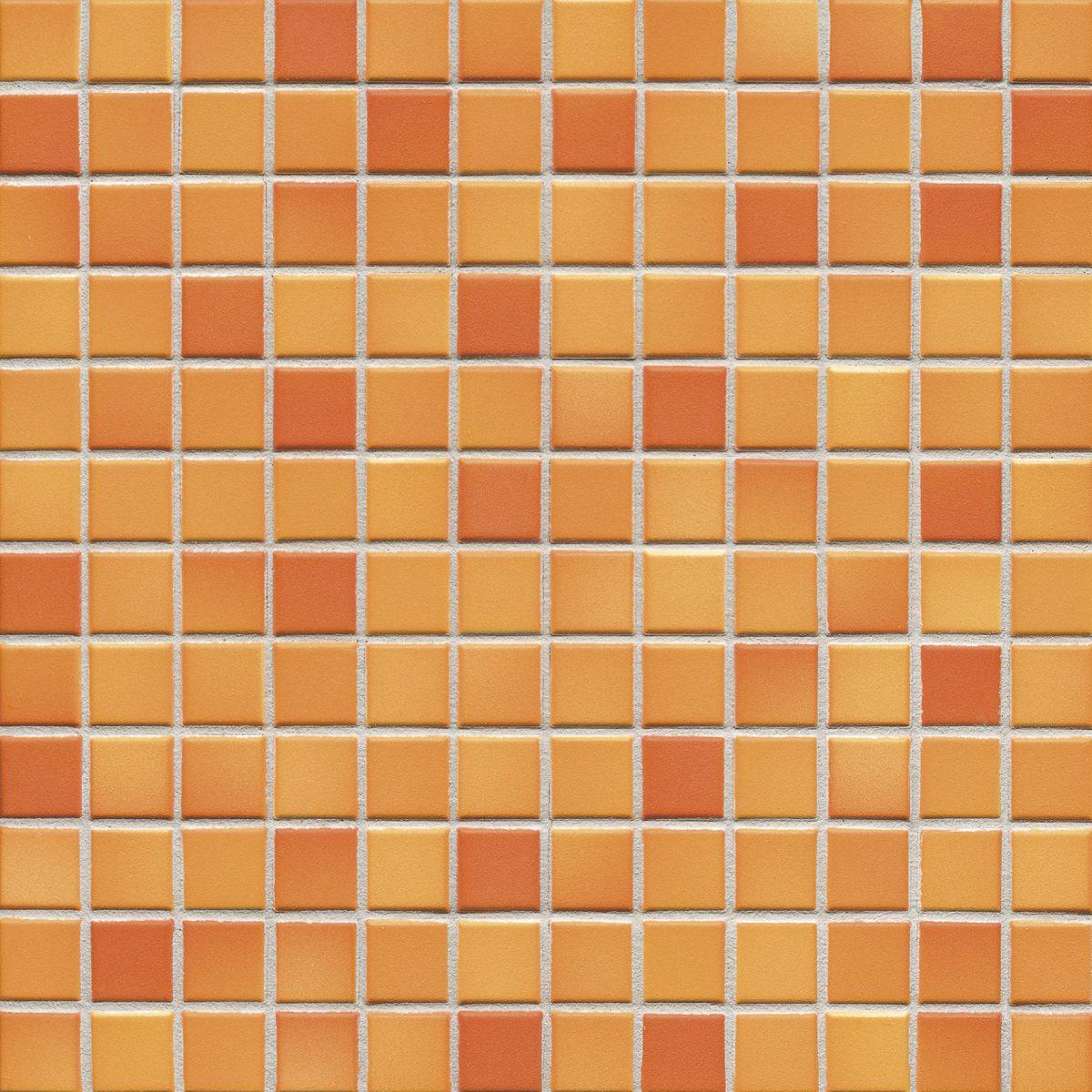 Мозаика серия Fresh 2,4 X 2,4 см Sunset Orange Mix Secura (противоскользящая R10/B)