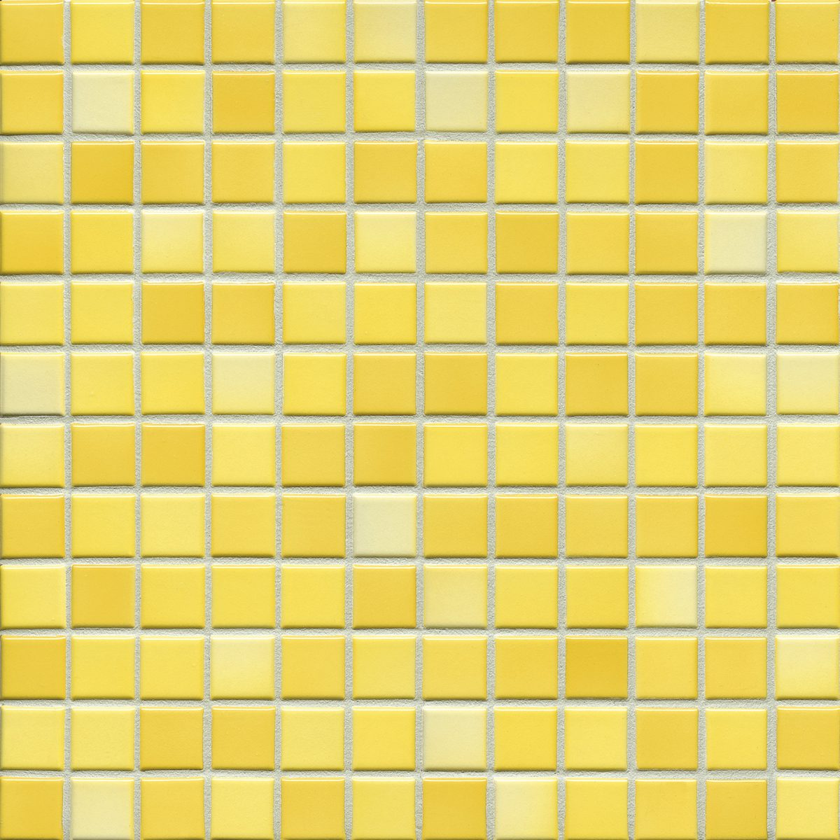 Мозаика серия Fresh 2,4 X 2,4 см Sunshine Yellow Mix Glossy (глазурованная)