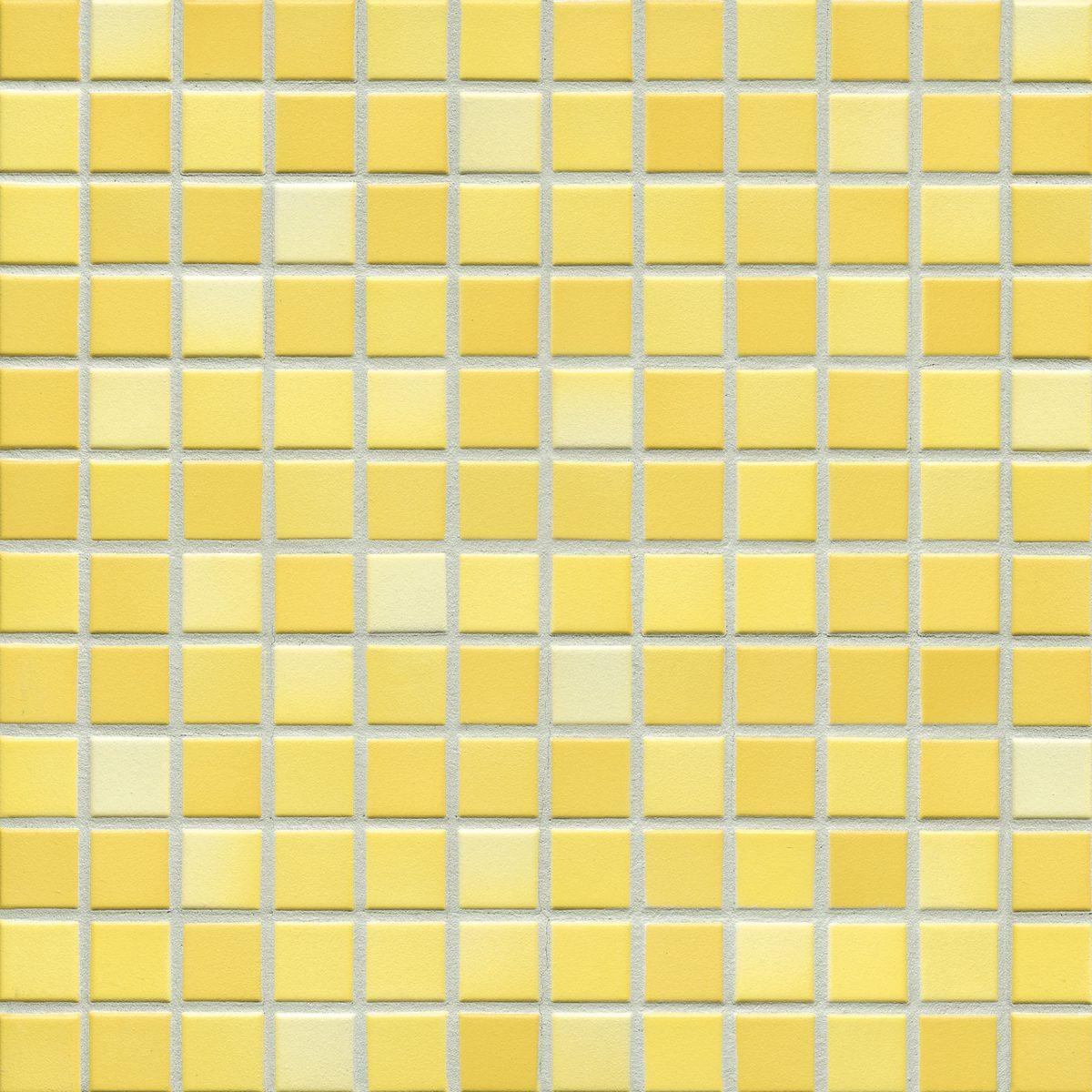 Мозаика серия Fresh 2,4 X 2,4 см Sunshine Yellow Mix Secura (противоскользящая R10/B)