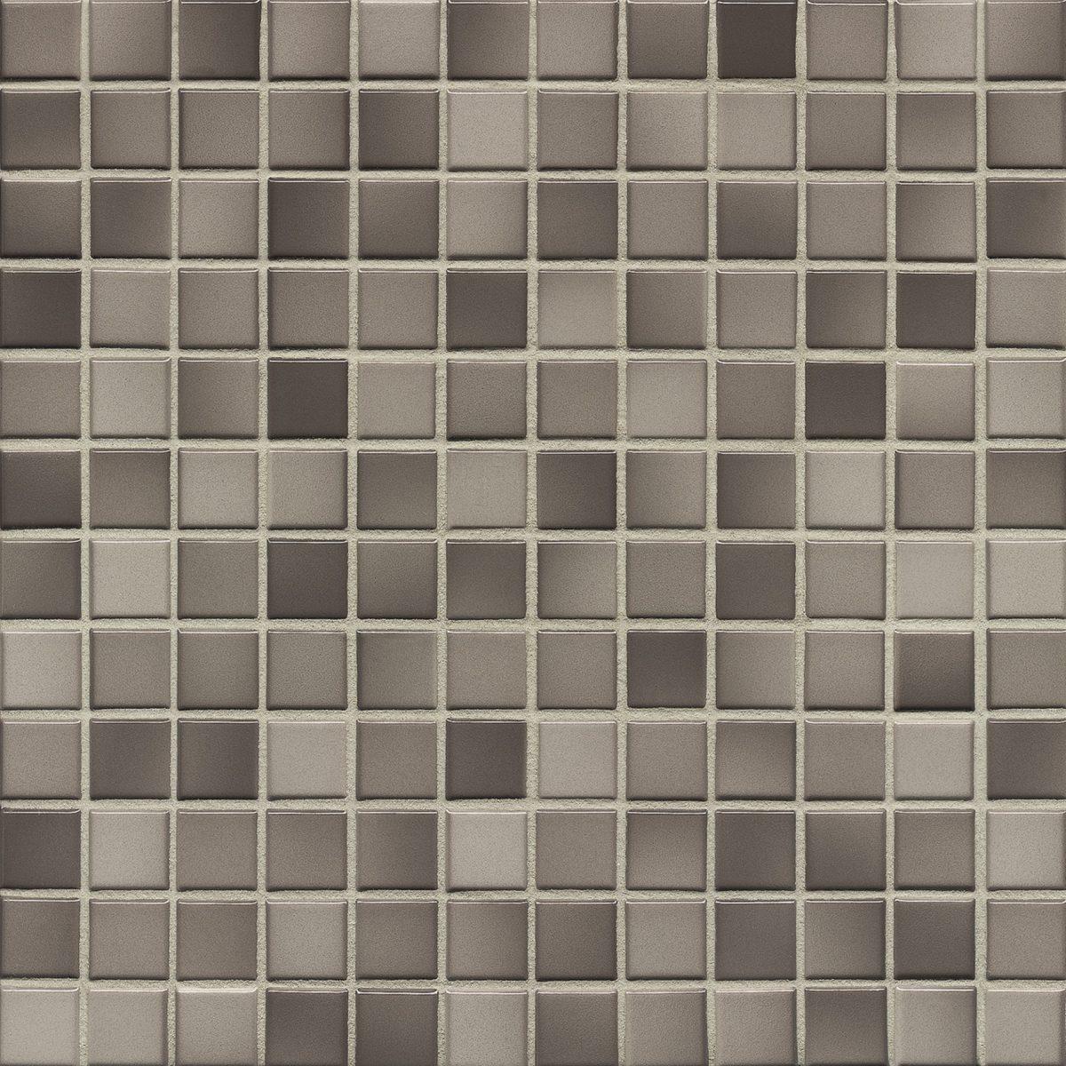 Мозаика серия Fresh 2,4 X 2,4 см Тaupe Mix Glossy (глазурованная)