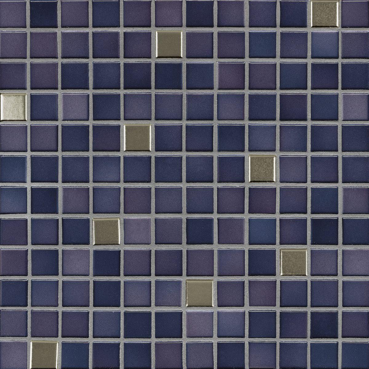 Мозаика серия Fresh 2,4 X 2,4 см Vivid Violet Mix Metal Glossy (глазурованная)