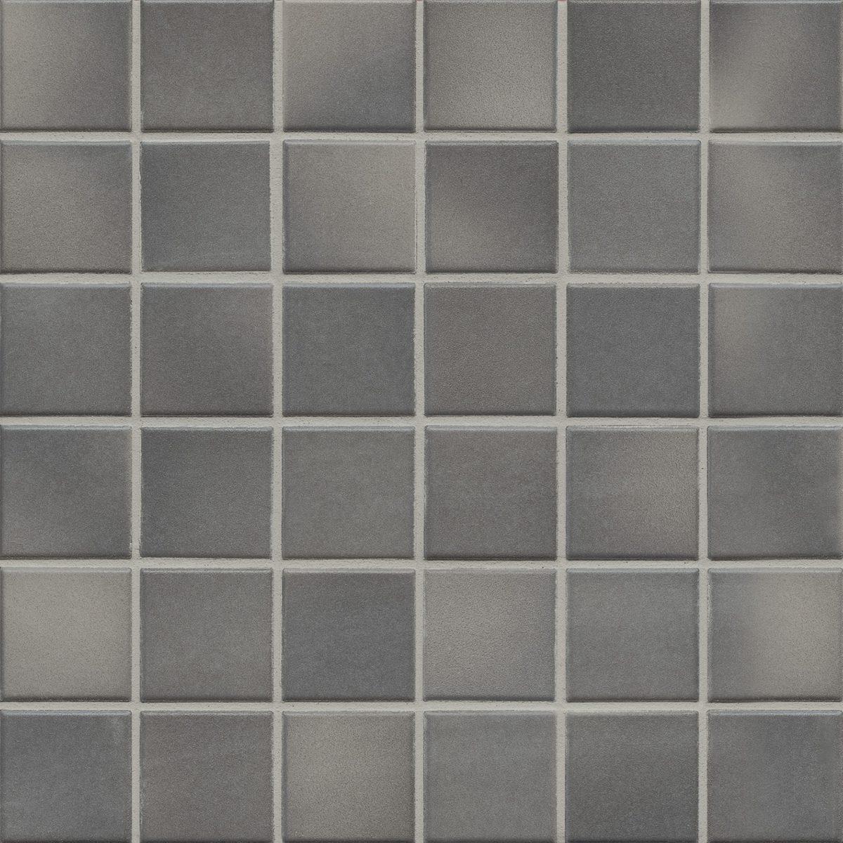 Мозаика серия Fresh 5,0 X 5,0 см Medium Gray Mix Secura (противоскользящая R10/B)