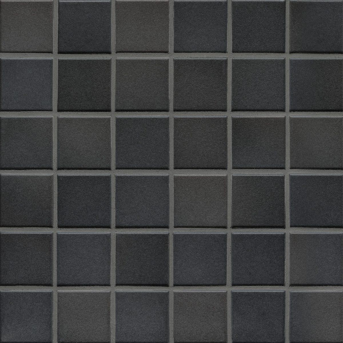 Мозаика серия Fresh 5,0 X 5,0 см Midnight Black Mix Secura (противоскользящая R10/B)