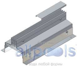 Напольные щелевые диффузоры ASS-3 (Симметричное исполнение)