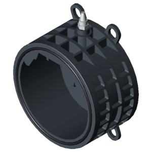 Обратный клапан ПВХ D255-8″ PN10, хлопушка