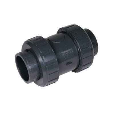 Обратный клапан ПВХd63 PN16, без пружины (воздушный)