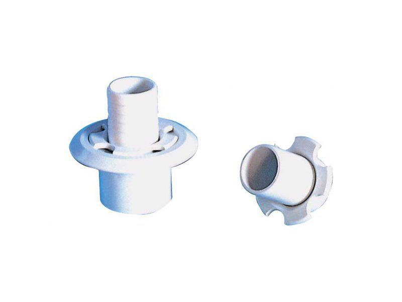 Переходник для шланга Gemas, D=38 мм, 1 1/2″, ABS пластик, белый