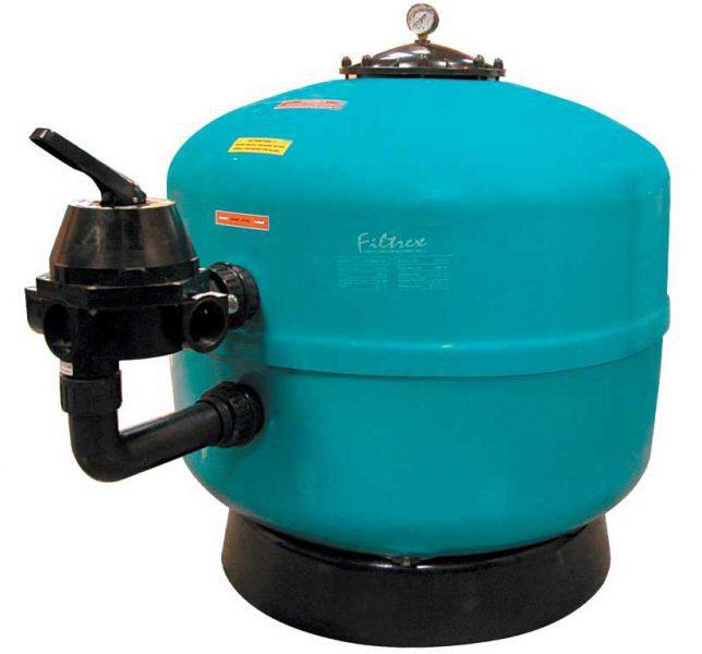 Песочный фильтр Filtrex, O 900 мм, 32 м3/ч, клапан сбоку