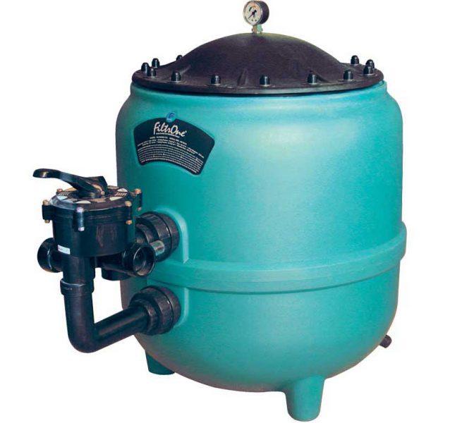 Песочный фильтр Filtrone L PE, O 920 мм, 32 м3/ч, клапан сбоку