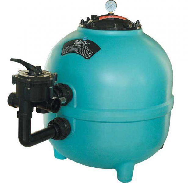 Песочный фильтр Filtrone PE, O 920 мм, 32 м3/ч, клапан сбоку