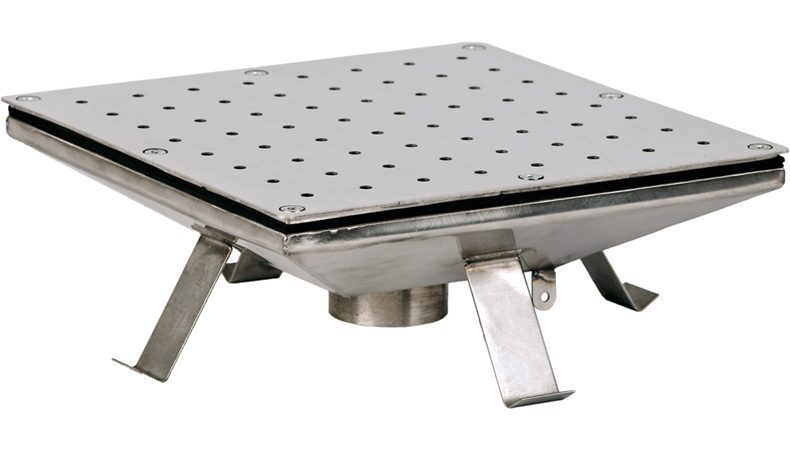 Плато квадратное аэромассажное 400х400 мм, плитка, 60 м3/ч