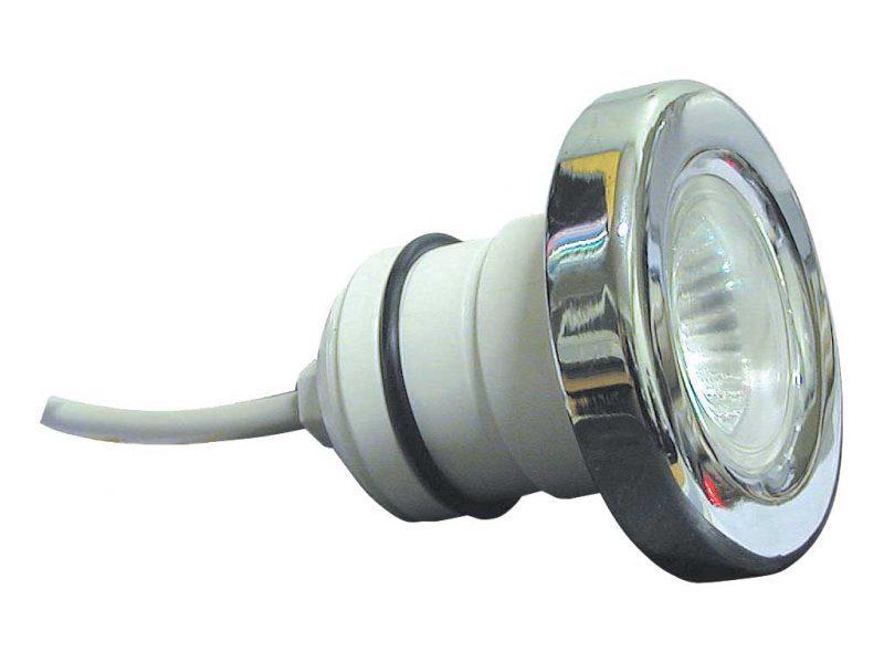 Подводный галогенный прожектор Mini 2001, 50 Вт 12 В, лиц. панель нерж. сталь