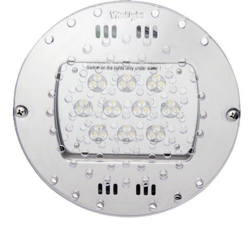 Подводный светодиодный прожектор Power Led 2.0, 30 Led, 24 В, 6000 K, O230мм, монтаж в дно бассейна