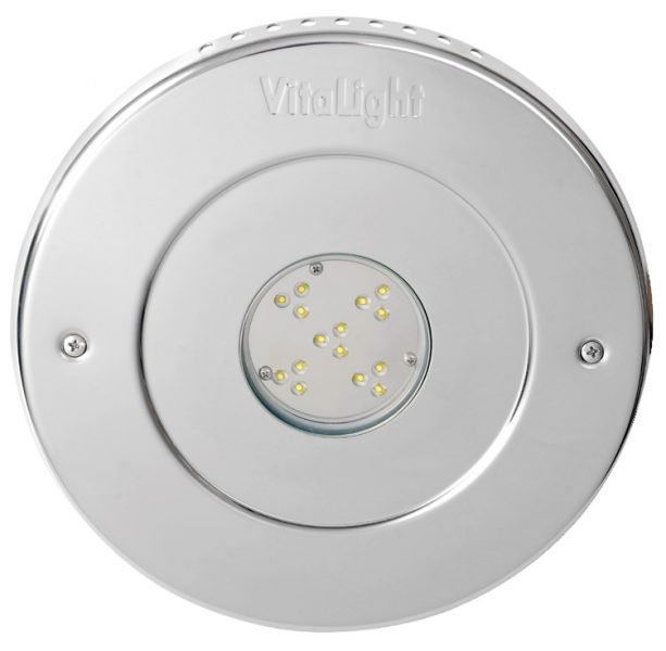 Подводный светодиодный прожектор Vitalight Power-LED 2.0, 15 X 3Вт, 24В, 4500K, O270мм