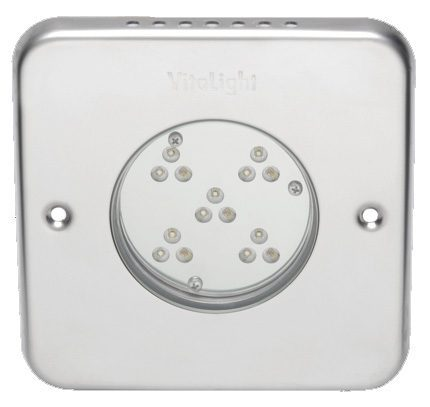 Подводный светодиодный прожектор Vitalight Power-LED 2.0, 15 X 3Вт, 24В, RGB, 155мм