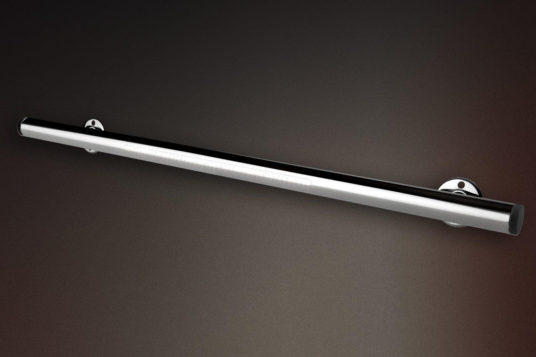 Поручень STANDARD 14.1, L=1м, с 2-мя фланц. креплениями под наклоном, AISI 316