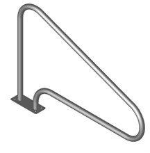 Поручень Тип L 16.4, H=850мм,креп.-фланцевая пластина, AISI 316