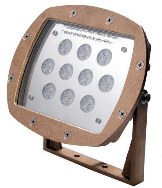 Прож. 30 Power LED 2.0, ПРУД/ФОНТ., 80 Вт, 24В DC, 15°, RGB, 10 м 2×1,5 мм2, BZ