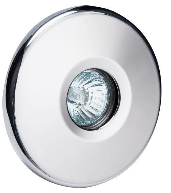 Прожектор галогеновыйMIDI 50 Вт, 12В AC, круг 140 мм, V4A, 2 м кабель 2×1,5 мм2, RG