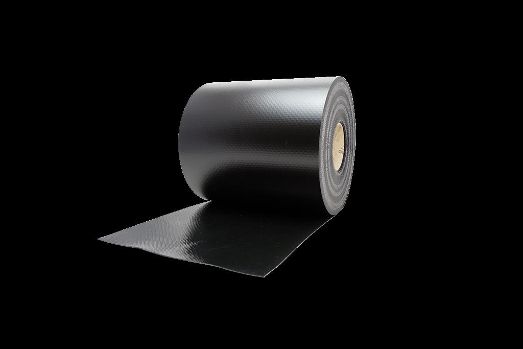 Разметка для дорожек, армированная (толщина 1,5 мм, длина в рулоне 25 м, высота 25 см)черная