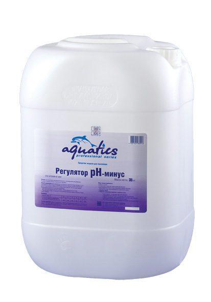 Регулятор PH- минус жидкий для бассейнов, 35 кг (30 л)