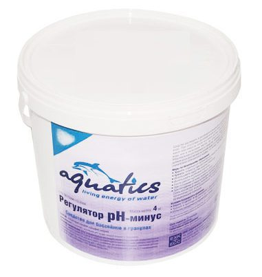Регулятор рН- минус для бассейнов в гранулах, 4 кг
