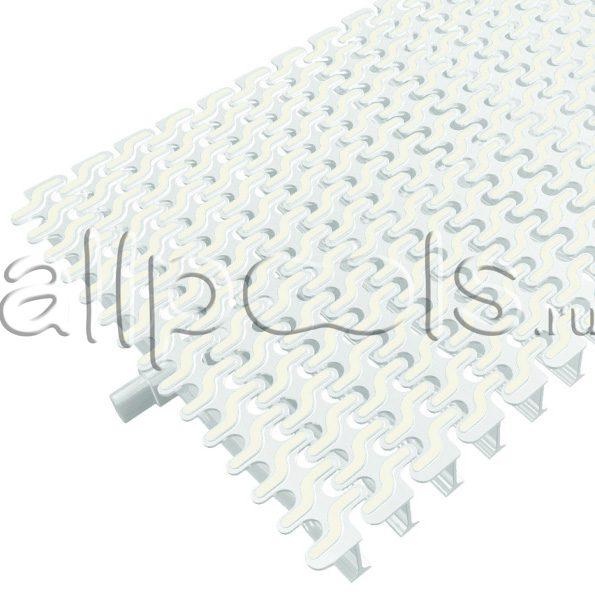 Решетка переливная ESSE радиал.уч., шир. 195 мм, выс. 20 мм, дл. 500 мм, цвет-бело-белый